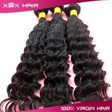 Xi Shi Xiu factory supply large stocks deep wave 100% brazilian human hair