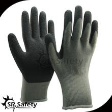 SRSAFETY grey industrial latex rubber hand gloves/latex work glove
