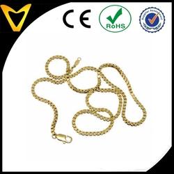 2015 new heavy gold box chain design for men