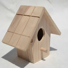 Wooden bird houses for kids,wooden toys,decorative birds wooden