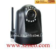 Wifi p2p wireless two way audio nightvision indoor Pan/Tilt ip camera