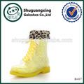 Frauen regen stiefel mode bekämpfung regen stiefel warm winter|b- 817