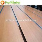 Cheap Thickness 15-25mm mdf Slatwall wood , Size 1220*2440