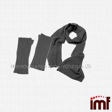 Women ad men cashmere glove and scarf set knitting pattern