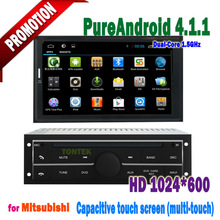 Mitsubishi L200 car radio with BT AUX BT USB SWC touch screen 100% Android MP3/MP4