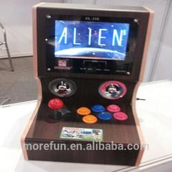 2014 new cheap wooden mini simulator arcade desktop video game console wholesale machines video game