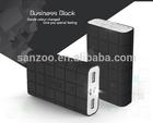 fashion flashlight daul output port mobile power bank charger
