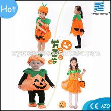 Popular high quality kids Halloween party pumpkin costumes