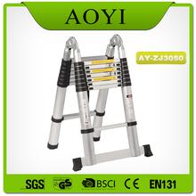 en131 european standard telescopic ladder with joint,5 meter
