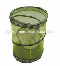 Fabric foldable garbage bin