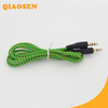 wholesale braided instant double jack audio cable adapter