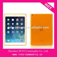 Translucent Orange TPU Case Cover For Apple iPad Air