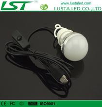 LED Bulb USB High Power 3W 5W 7W Wall Hanging Design Camping Light Mini USB Torch