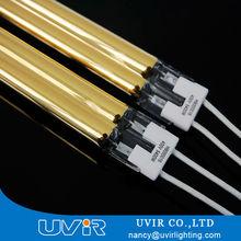 short wave golden heraeus 58872 Ir twin tube lamp for PET Plastic welding