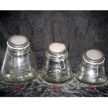 glass bell jars wholesale clip top glass jar for food jam