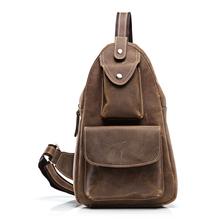 (T8061)Men Crazy Horse Genuine Leather Satchel