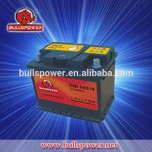 Balanced design dry cell 75d26l 12v 45ah car battery