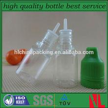 clear 5ml e cig bottle plastic e cig liquid bottle round shape