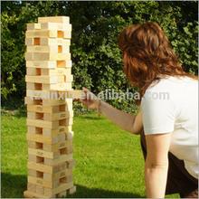 Wooden natural color Janga for enjoyable wooden garden game set