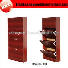 Cheap custom modern tall space saving folding wooden ikea shoe rack