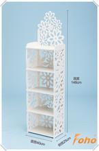 Pure white European style ikea carved wall shelf ideas