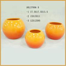 yellow color ceramic flower pots terracotta plant pot