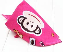 printing monkey seamlesss cotton baby bandana bibs