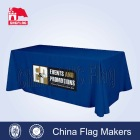 Trade show printed table throw with front logo tablecloth