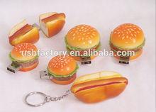 Wholesales New Cartoon Cookie/Hamburger/Sandwich/Ice Cream usb 2.0 memory,Pizza and hamburger USB sticks 8gb