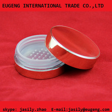 20g round scarlet loose powder jar ,cosmetic compact case