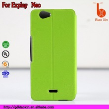 China Manufacturer cell phone filp leather cover case for Explay NEO