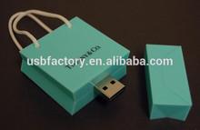 Custom usb drive with shopping bag pen drives real capacity bulk bag sharpe usb memory , 16GB usb flash drive for Tiffany gifts