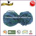 nueva moda de color sólido de tejer una bufanda de los hilos de acrílico