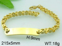 2014 most fashion handmade gold slave bracelet