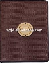 8848B wooden logo leather menu cover/restaurant menu/menu cards