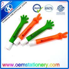 Lovely stationery finger design ball pen /finger shape ball pen /plastic ball pen for promotional