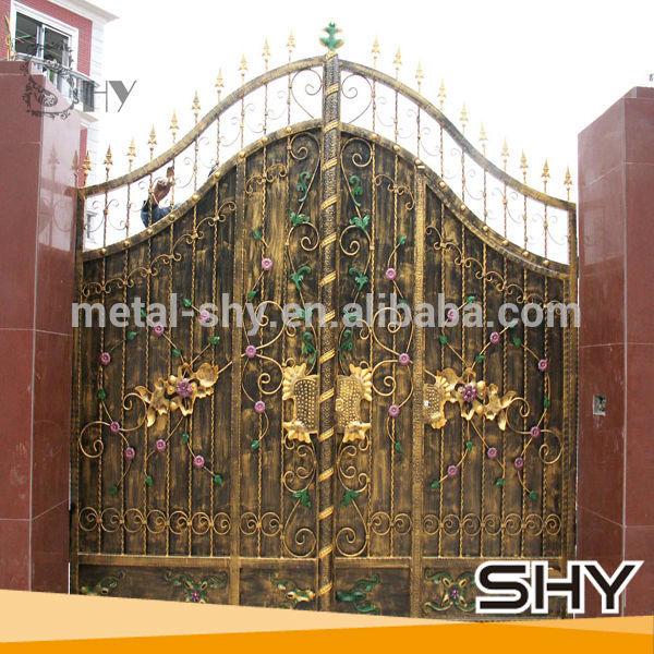 Metalen hek gesmeed ijzer metalen hek gegalvaniseerd ijzer metalen poorten ontwerpen hekwerk - Arbor gesmeed ijzer ...