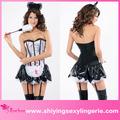 caliente de la venta al por mayor de zombie franceses de la criada para adultos sexy traje de niña