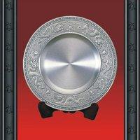 Pure Tin Souvenirs Plate Metal Plate, Dragon Pattern