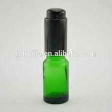 hot vente 30ml vert bouteille en verre avec pompe de pulvérisation pour la vente