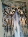 el último de la cortina de lujo diseños textiles para el hogar de la cortina de estilo árabe cortinas