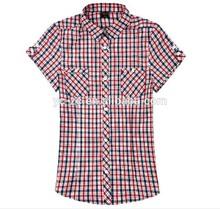 Lavar roupa tecido de viscose mais recente moda feminina blusa uniforme