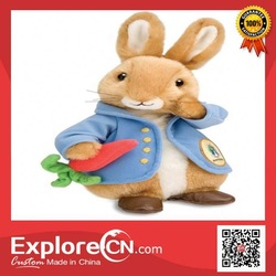 Promotional stuffed toy rabbit wholesale with full printing