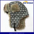 HZM-13853 nice warmer black chunky earflap hat