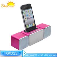 Music Amplifier Audio Dock speaker for iPhone 5 5S