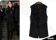 z61786w europea fashion ladies fur vest for winter