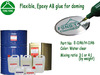 Water clear flexible AB epoxy glue 2-part epoxy doming resin compound for stickers, graphics, decorations, promotional gifts