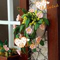بيت الدمى الاصطناعية النموذجي مصغرة زهرة زهرة الطين الزخرفية