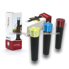 LFGB air pump opener,Food grade promotional Vacuum wine stopper gift