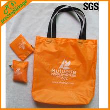 Custom reusable cheap nylon foldable shopping bag for promotion